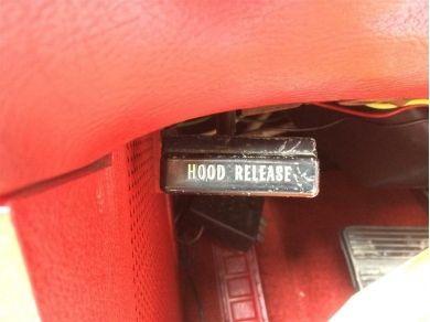 Chevrolet Corvette Stingray Hood Release Pull & Cable - Corvette C3 Hood Release Pull & Ca