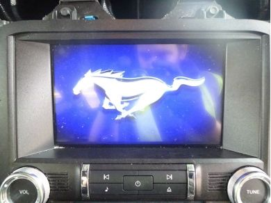Audi Ford Mustang GT Shaker Audio System Mustang Satellite Navigation Screen