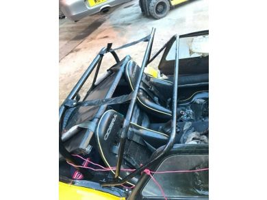 unbranded cobra bucket race seat badly damaged race car kit car parts track  car seats