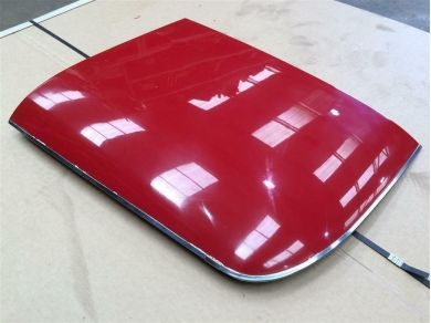 Chevrolet Corvette Stingray Roof Panel - Corvette C3 Roof Panel RIGHT Side (Red on White)