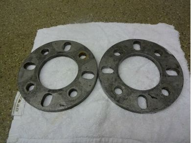Unbranded Jensen Healey Wheel Spacers Pair of Jensen Healey 9.5mm Wheel Spacers