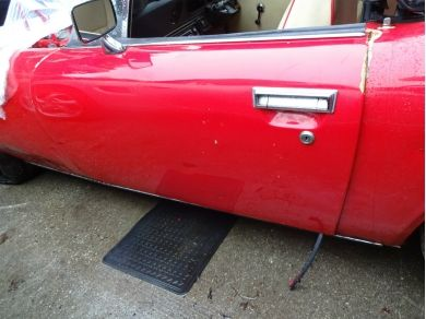 Unbranded Jensen Healey Left Hand Door Shell Jensen Healey Passengers Door