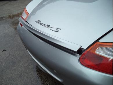 Porsche PORSCHE BOXSTER 986 ARCTIC SILVER REAR SPOILER BOXSTER SPOILER LN51OLJ 98650460901-98650461301