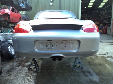 Porsche PORSCHE BOXSTER 986 ARCTIC SILVER REAR BUMPER - LN51OLJ 98650541100