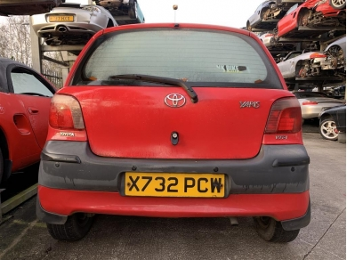 Toyota Yaris Rear Bumper 2000 Year MK1 Toyota Yaris Back Bumper RED