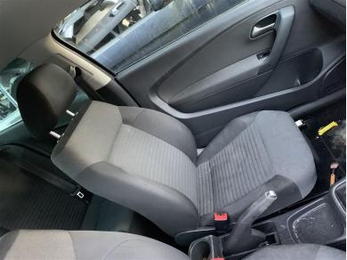 Volkswagen VW Polo Mk5 Front Seat UK Passenger Side Left Side Grey Cloth 2012 Year
