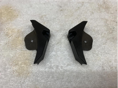Porsche Boxster 987 Wind Deflector Clips Right & Left P/n. 98756191100 98756191200