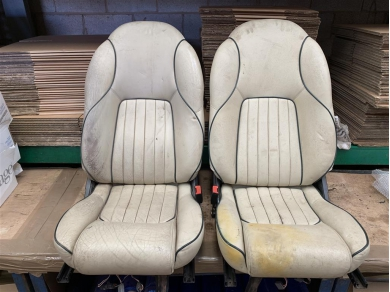 Aston Martin DB7 Seats Aston Martin Seats DB7 (tatty) Office Chair Man Cave Stuff