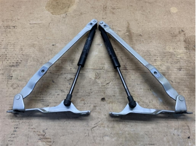 Porsche Boxster 987 Front Bonnet Hinges in Silver PAIR C/w. Gas Rams 2008 Year 99751115101