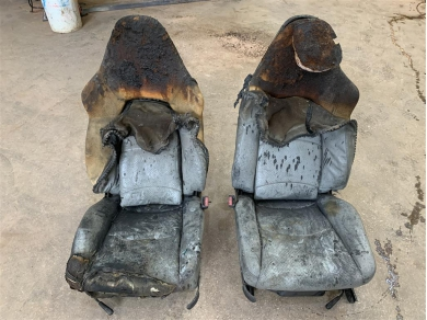 Porsche 993 Hardback Sports Seats Parts Porsche 993 Sports Seats Fire Damaged