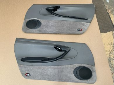 Porsche PORSCHE BOXSTER 986 DOOR CARDS GREY LEATHER R587 KAR Interior Parts