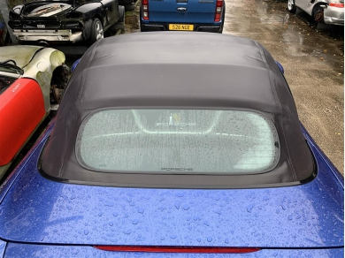 Porsche Boxster Glass Screen Roof Boxster 986 Facelift Roof 2004 Year Blue