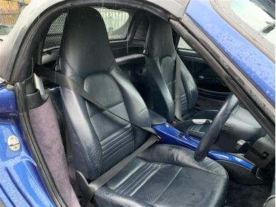 Porsche Boxster Seats Porsche Boxster Metropole Blue Leather Crested Comfort 2004