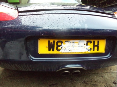 Porsche PORSCHE BOXSTER S 986 S REAR BUMPER IN OCEAN BLUE METALLIC W821 PCH MTMT