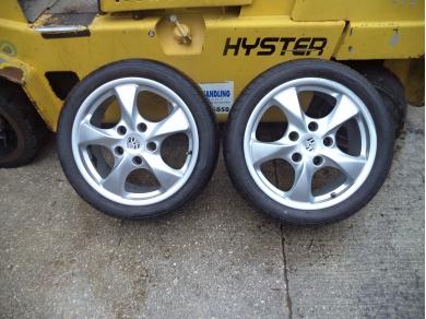 Porsche PORSCHE BOXSTER 986 ALLOY WHEELS .BOXSTER PAIR OF 17 INCH ALLOY WHEELS V819JTO