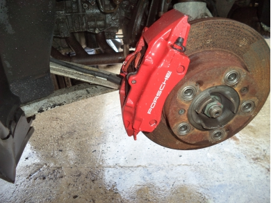 Porsche PORSCHE BOXSTER 986 2.5 REAR BRAKE CALIPERS PAINTED IN RED V819JTO