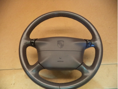 Porsche PORSCHE 991 996 4 SPOKE BLACK TIPTRONIC STEERING WHEEL S738 DGU MT (OFFICE ROOF)