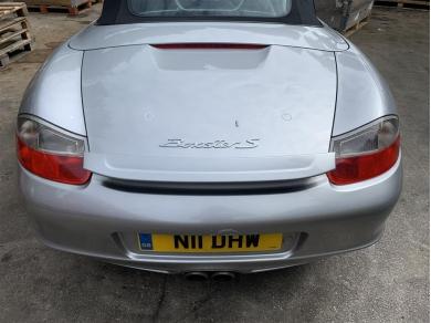 Porsche Boxster 986 Facelift Rear Spoiler Top Clip On Cover In Arctic Silver 2002