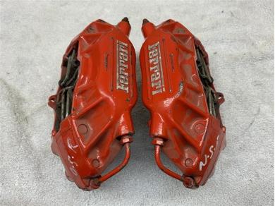 Ferrari 348 Rear Brake Calipers F348 Rear Brake Calipers Painted Red Used