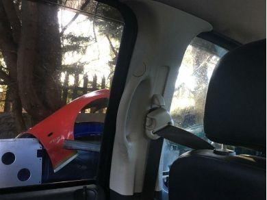 Dodge 2003 Dodge Ram Rear Left Side Inside Grab Handle B Pillar Trim Moulding BEIGE